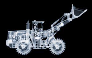 Röntgen fotó bulldózer