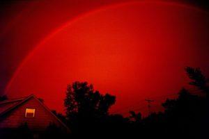 naplemente szivárvány