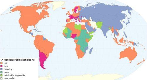 alkohol térkép